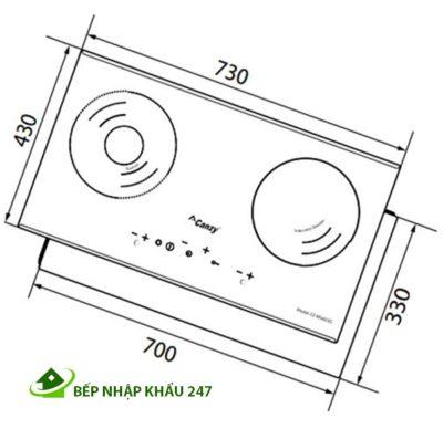Bếp điện từ Canzy CZ MIX823G