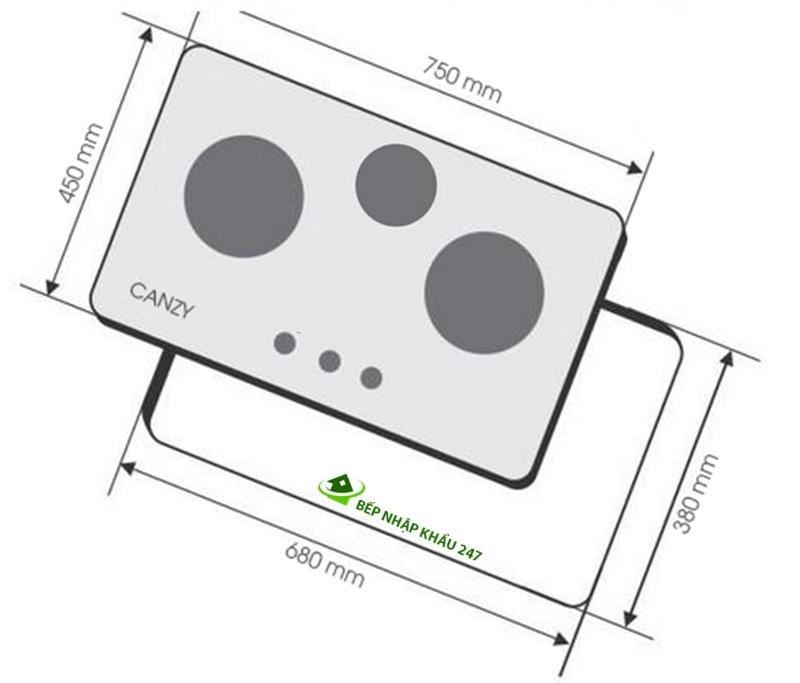 Bếp gas âm Canzy CZ-863