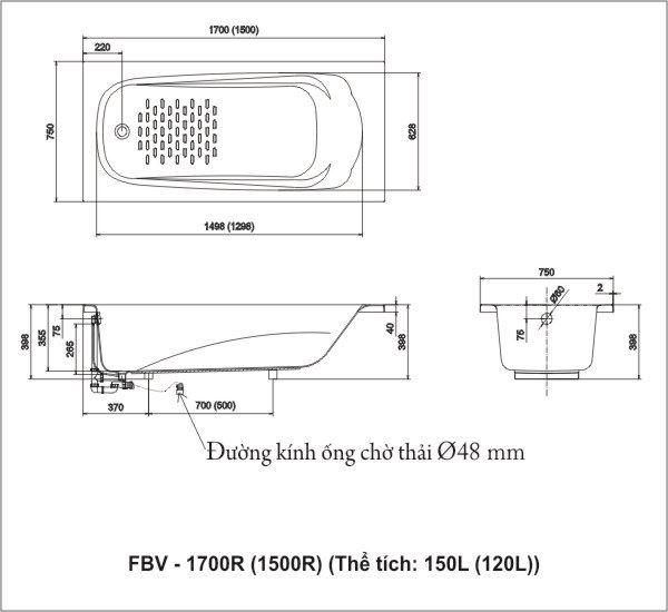 Bồn tắm Ocean FBV-1700R