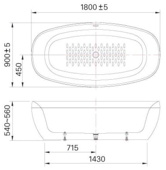 Bồn tắm đặt sàn BF-1858