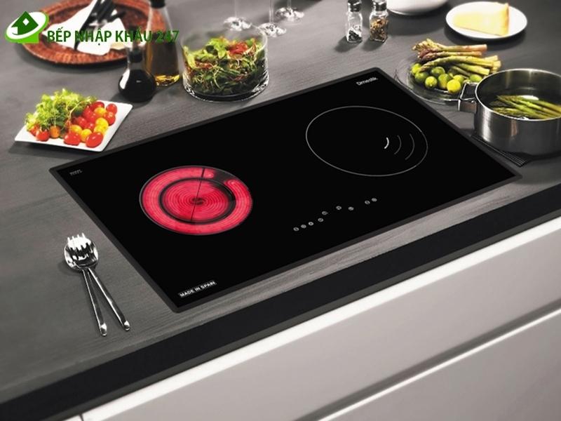 Bếp điện từ gồm lò nấu hồng ngoại 1 lò nấu từ